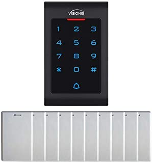 Visionis FPC-5670 Access Control Indoor Digital Touch Keypad Reader RFID EM MFR Standalone 125KHz and Wiegand 2000 Users w...