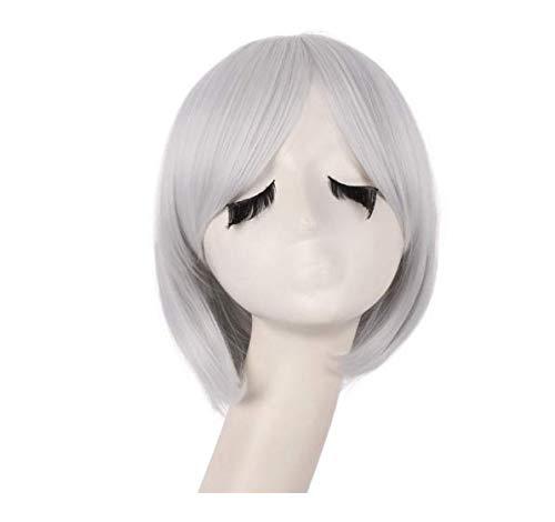 Perruque cos-play courte perruque naturelle droite Mesdames perruque synthétique de jeu de rôle synthétique