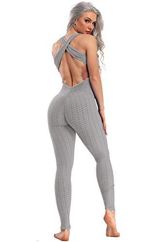 FITTOO Mallas Pantalones Deportivos Leggings Mujer Yoga de Alta Cintura Elásticos y Transpirables para Yoga Running Fitness con Gran Elásticos1370 Gris S