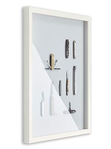 BIRAPA Objektrahmen Talon Space 84,1x118,9 cm DIN A0 Weiß Matt 3D Bilderrahmen zum Befüllen