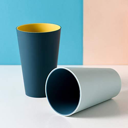 Waschen Zahnputzbecher 4 Stück Zahnputzbecher Set,Tragbare Reise Mundwasser Wasser Tasse Zahnbecher Zahnbürstenhalter,Zweifarbig Einfach und stilvoll Waschbecher,Kunststoff,Doppelte Farbe