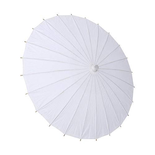 Zetiling Olie Papier Parasol Parasol voor Bruid Katoen Mode Houten Handvat Decoratie Parasol Wit