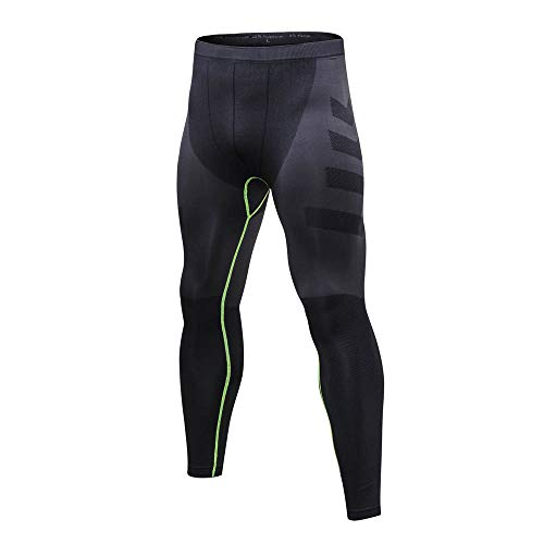 Celucke Sport Leggings Herren Strumpfhose Klassisch Laufhose Pro Cool Compression Tights Funktionswäsche Quick Dry Kompression Hose für Fitness Gym Joggen