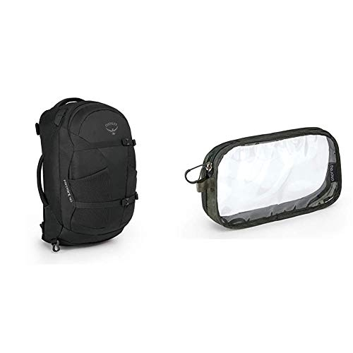 Osprey Farpoint 40 Outdoor Trekking Rucksack Washbag Carry on Shadow Grey