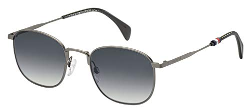 Tommy Hilfiger Men's TH1469/S Square Sunglasses, Silver, 52 mm