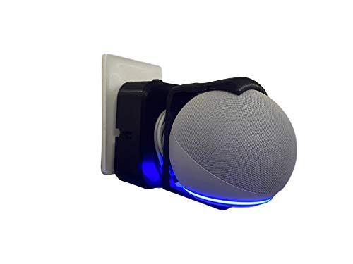 Suporte All In One de Tomada para Amazon Alexa Echo Dot 4 Compacto (Preto)