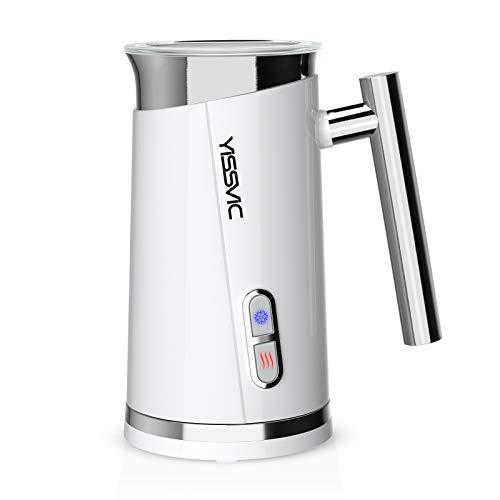 Yissvic Montalatte Elettrico 3 in 1 Schiumalatte 500W 300ml Montalatte, Doppio Rivestimento, Spegnimento Automatico, per Caffè, Latte, Cappuccino