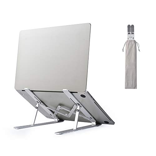 Laptop Stand,Foldable Portable Non-Slip Laptop Stand,Aluminum Laptop Riser with 7 Levels Height Adjustment, Fully Collapsible,Suitable for All Kinds of laptops , Tablets