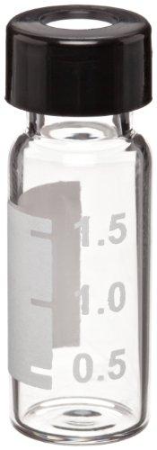 Wheaton (w225153–0801Borosilikatglas 1,8ml Schreiben Patch Flakon mit geschlitztem 0,005rot PTFE/0,035Silikon 9mm liniert ABC Schraubdeckel, Bernstein/Schwarz (Fall von 100)