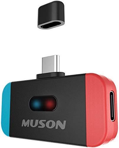 Nintento Switch Bluetooth トランスミッター ワイヤレス レシーバー スイッチ Switch lite 用 aptX LL対応 低遅延 TYPE-Cポート 小型 任天堂 ブルートゥース 送信機 PS4 PC 車/テレビ/ワイヤレスイヤホン/ヘッドホンレシーバー 対応 TELEC認証済み MUSON(ムソン) MK3