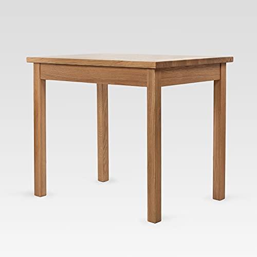 Rikmani Küchentisch Echtholz handgefertigt aus Eiche Design Massivholz Holztisch Esstisch Esszimmertisch Wohnzimmertisch Universaltisch BARRO