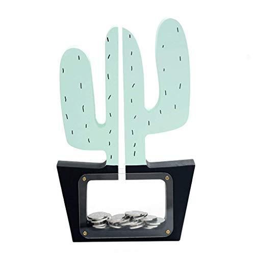 XHAEJ Hucha en Forma de Cactus, Caja de Monedas, Mejor opción para Navidad/Año Nuevo/Cumpleaños/Descarga