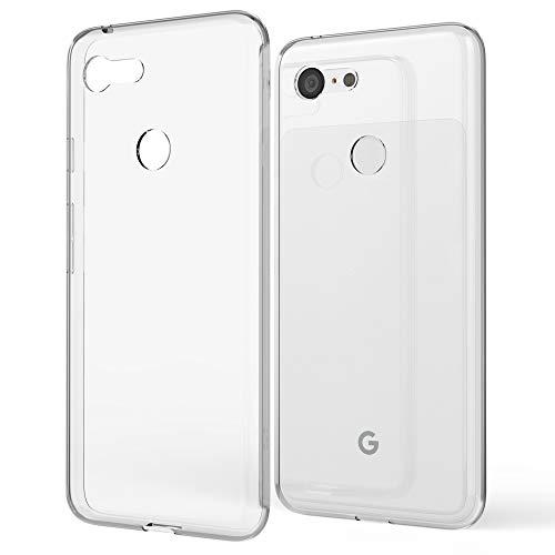 NALIA Custodia Protezione compatibile con Google Pixel 3 XL, Sottile Lucida Silicone Telefono Bumper Cellulare Protettiva Case, Ultra-Slim Morbido Gomma Copertura Antiurto Gel Cover - Trasparente