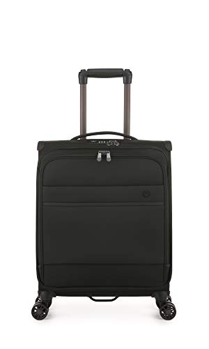 Antler Stirling, Durable Lightweight Soft Shell Suitcase - Colour: Black, Size: Cabin