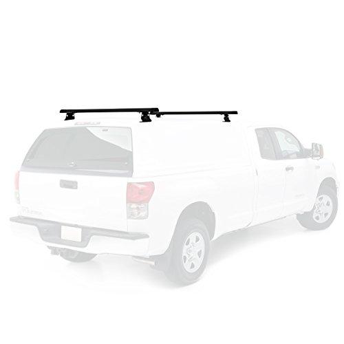 Vantech Universal Pickup Topper J1000 Ladder roof Rack w/ 50' Bars Black