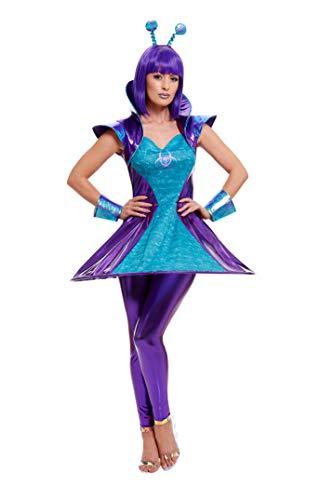 Smiffys 51041M - Disfraz de mujer alienígena, multicolor, talla M