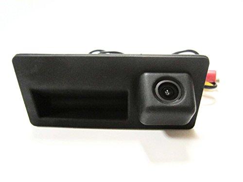 Bw haute qualité 170 ° vue arrière de voiture inverse Parking Caméra de recul 2 en 1 de remplacement Poignée de coffre de voiture + CCD vue arrière sauvegarde inversée Caméra de recul pour Audi A4 A6 A8l S5 Q3 Q5