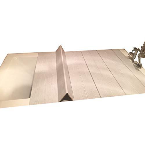 LwBathtub tray Badewannenabdeckung Anti-Staub Falten Staubplatte Badewanne Isolierabdeckung PVC 55 * 63 * 0,6 cm
