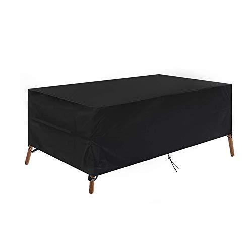 Funda para Mesa Jardin Cubierta De Muebles De JardíN Impermeable Resistente Al Polvo Anti-UV Funda 420D Oxford Protectora para Muebles De JardíN Negro(66 X 66 X 90 Cm)
