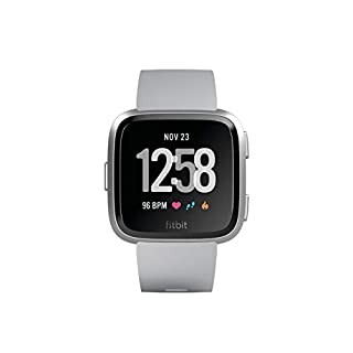 Fitbit Versa - Montres Connectées Forme, Sport et Bien-être : Plus de 4 Jours d'autonomie, Étanche, Suivi Fréquence Cardiaque, Argent (B07B9SGH68) | Amazon price tracker / tracking, Amazon price history charts, Amazon price watches, Amazon price drop alerts