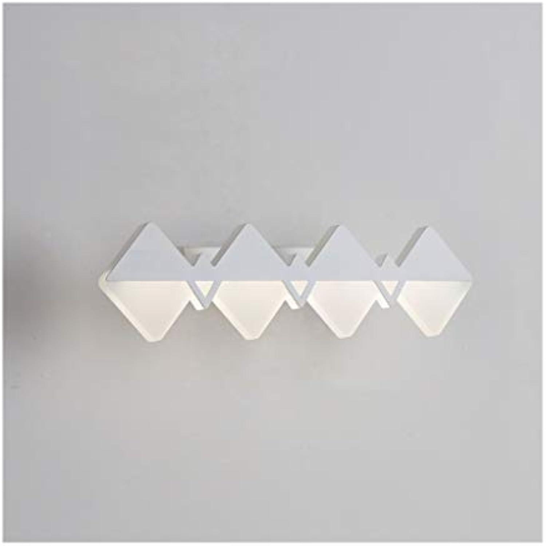 Bad Spiegelleuchten Spiegel Scheinwerfer LED Make-Up Lampe Spiegel Kabinett Licht Wohnzimmer Korridor Wandleuchte TriFarbe Lampe [Energieklasse A +] (Farbe   Drei-Farben-Licht-37.5cm)