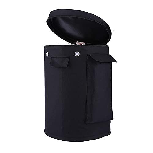 Kovshuiwe - Cubierta de Tanque de propano con Cordones para Cilindro de Tanque estándar de 20 LB, Cubiertas de protección de Lata de propano Negro con protección UV Resistente al Agua (47x32-Acm)