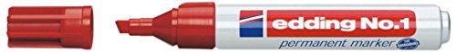 Edding No.1 rot Permanent Marker 1-5mm Keil Spitze
