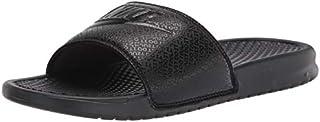 Nike Men's Benassi Just Do It Athletic Sandal, Black/White Noir/Blanc, 13.0 Regular US