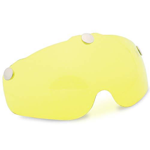 VICTGOAL Fahrradhelm, stark, magnetisch, Visier für VG103 Fahrradhelm (gelb)