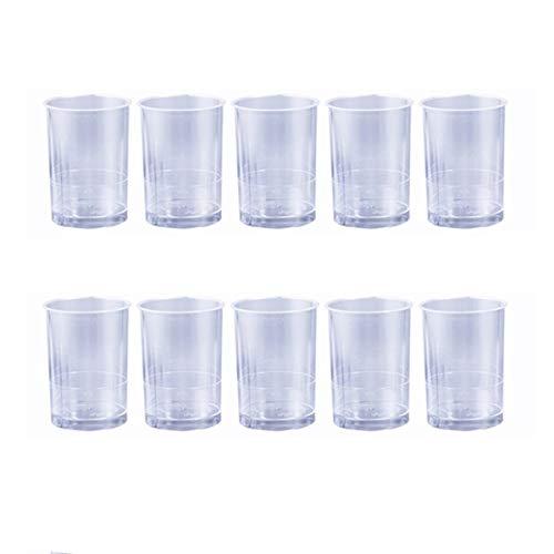 Amosfun 10 Stück Einweg Portion Cups Kunststoff Mousse Cup Straight Cup für Jelly Yogurt Dessert