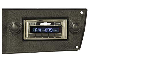 Custom Autosound Stereo + BLUKIT compatible with 1973-1988 Chevrolet Truck, USA-630 II Bluetooth Enabled High Power 300 watt AM FM Car Stereo/Radio