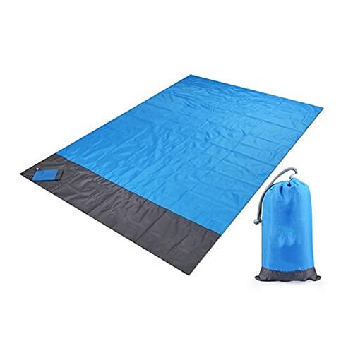 WWWL Picknickmatte 200x210cm Pocket Picknick wasserdicht Sand Strand Matte Outdoor Camping Klappdecke Picknick Zelt Abdeckung Bettwäsche Blue