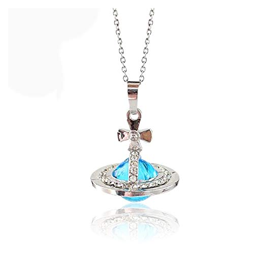 1 stücke Äthere Ölraumkappe Diffusor Glas Parfüm Flasche Anhänger Halskette Parfums und Düfte für Frauen (Metal Color : Silver)