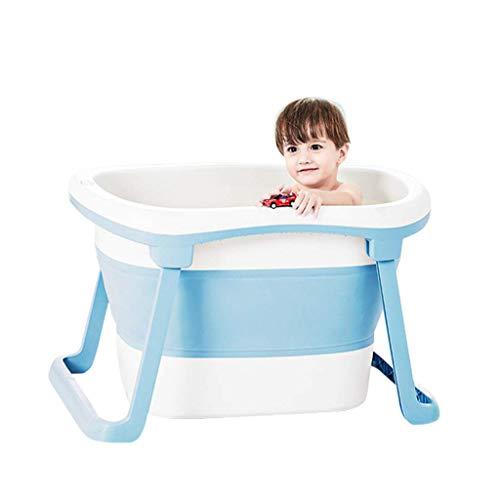 DSJMUY Bañera Plegable de plástico, bañera para bebés, bañera Plegable portátil, Plato de Ducha Plegable para niños, bañera, 2 Colores, Espacio Grande de 79 * 51 * 51 cm