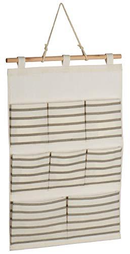 COM-FOUR® hangende opbergruimte - praktische hangende opbergkast - opbergruimte voor deur en muur - hangende kast voor badkamer en kinderkamer (01 stuk - beige)