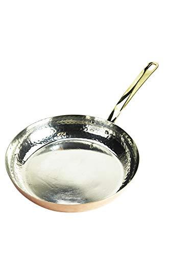 CopperGarden® Kupferpfanne mit Stiel ❁ 28 cm Durchmesser ❁ handverzinnt ❁ Pfanne aus Kupfer …