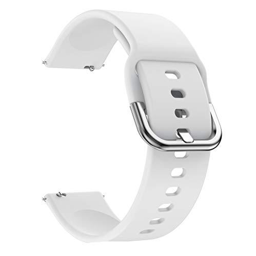 DAAGFC 20 mm 22 mm DIY Print Watch-Band para Samsung Galaxy Watch Active 2 Strap Silicona Reemplazo Banda para Huawei Watch GT 2E (Color de banda: Red Rose, Ancho de banda: 22 mm)