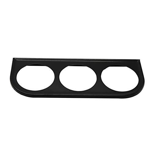 Vosarea Support de Coupe de Compteur de Tasse de Compteur de jauge de 52 mm, Monture en Fer pour Tableau de Bord (Noir)