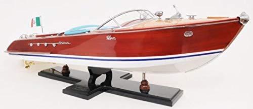 Casa Padrino Holzboot Speedboot Riva Aquarama Mehrfarbig 88,9 x 26 x H. 24,1 cm - Handgefertigtes Deko Modellboot Schiff Boot