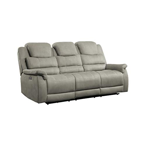 Homelegance 84' Double Reclining Sofa (Power), Gray