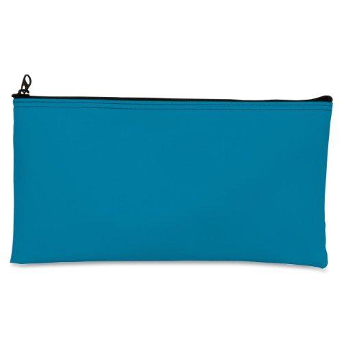 MMF Industries Zipper Top Wallet Bag - 11' x 6' - 16 mil, 406 Micron Thickness - Vinyl - Blue, 1 Each (2340416W38)