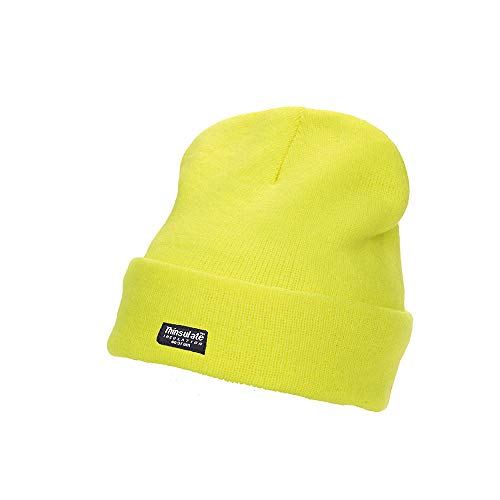 berretto giallo fluo Fashion Graphic Cappello Cappellino Berretto Alta Visibilita' (Giallo Fluo)