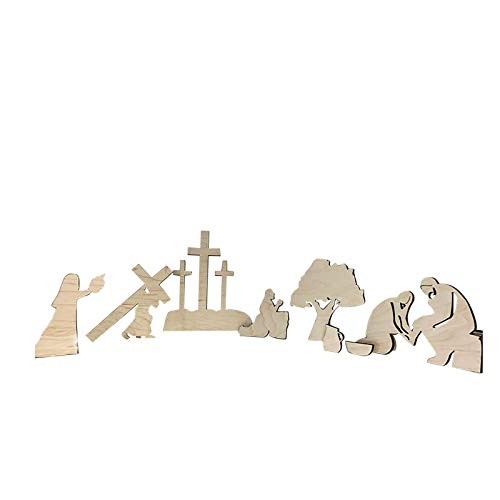 1 Set Of Decorations For The Nativity Scene, Wooden Pendants For The Nativity Scene, For Christian Friends And Family To Celebrate The Birth Of Jesus In 2021 (A)