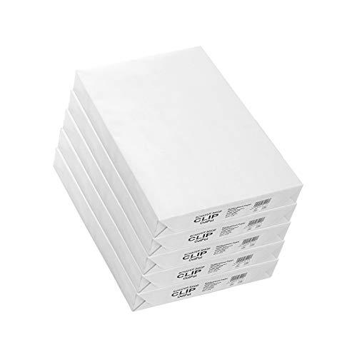 SCHÄFER SHOP Druckerpapier A3 – 80g/m² Papier - CLIP Output - Kopierpapier Laserpapier Inkjetpapier Duplexpapier - Duplexdruck geeignet, 2500 Blatt, weiß