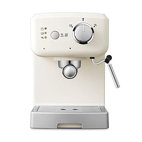 BTASS 15 Bar Druck Dampf Und Heißwasserfunktion, Espressomaschine, Siebträger Mit Doppelauslauf 20 Bar 1.25L Wassertank Edelstahl