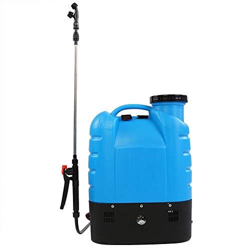 Zoternen 16L Pompa Irroratrice a Zaino Elettrico per Giardinaggio con irroratore per Le Piante, Batteria a Litio 12V 8AH, in PP, Blu