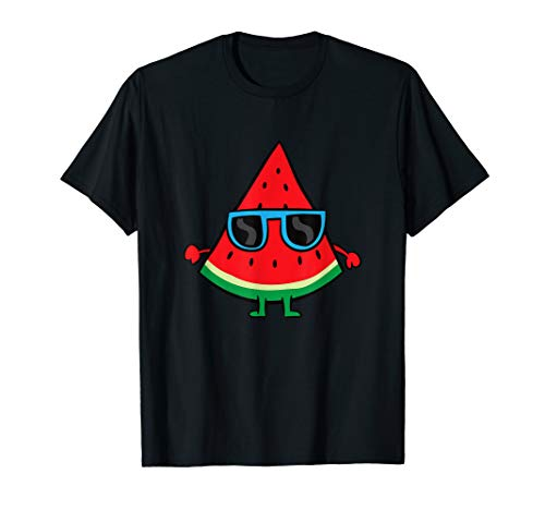 Watermelon Summer Melon With Sunglasses Watermelon T-Shirt