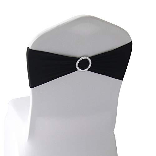 Lavender Spandex Chair Bands Sashes - 12 pcs Wedding Banquet Party Event Decoration Chair Bows Ties (Lavender, 12 pcs)