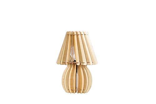 One Couture Design Lampe Naturholz Tischleuchte Tischlampe Lampenschirm Lampe Licht Sale
