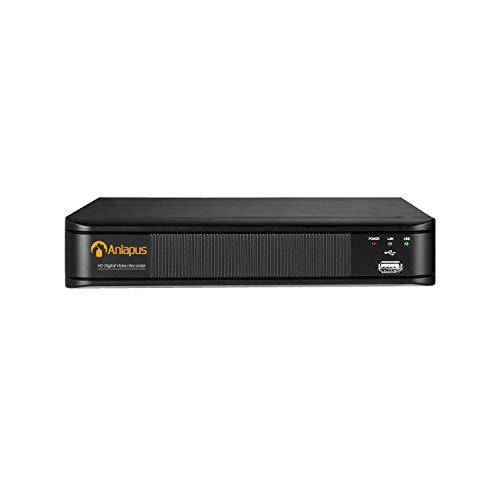 Anlapus 4CH 1080P H.265+ TVI DVR Enregistreur Vidéo Numérique, Détection de Mouvement & Alerte Instantanée,Compatible avec Caméra de Surveillance AHD/TVI/CVI/CVBS 960H, Disque Dur Non Founri